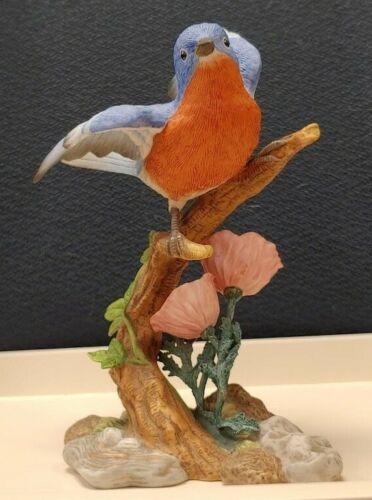 STUDIO DESIGN SONGBIRD SERENADE SIGNED- BLUEBIRD WITH POPPY SBS-9836-1998-MARURI
