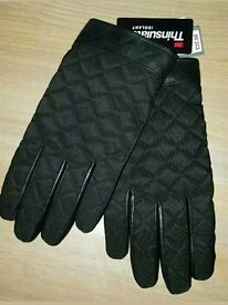 Thinsulate Men's Large Real Leather Gloves