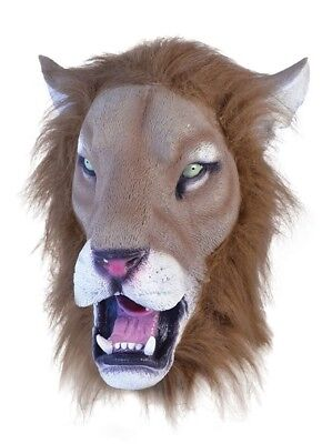 PARTY STAG REALISTIC LION NARNIA BIG CAT ADULT OVERHEAD RUBBER MASK - Lion Mask