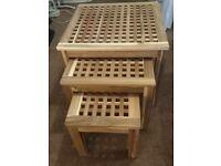 Ikea Nest of Tables Skoghall Acacia