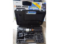 Cordless powerdriver black and Decker
