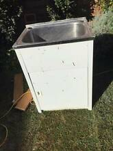 Laundry cabinet, Shelf with vacuum hose holder and floor tiles Pymble Ku-ring-gai Area Preview