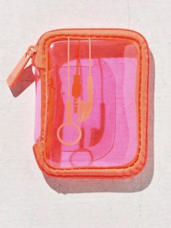 My Tagalongs Malibu Clear Travel Ear Bud Case NWT