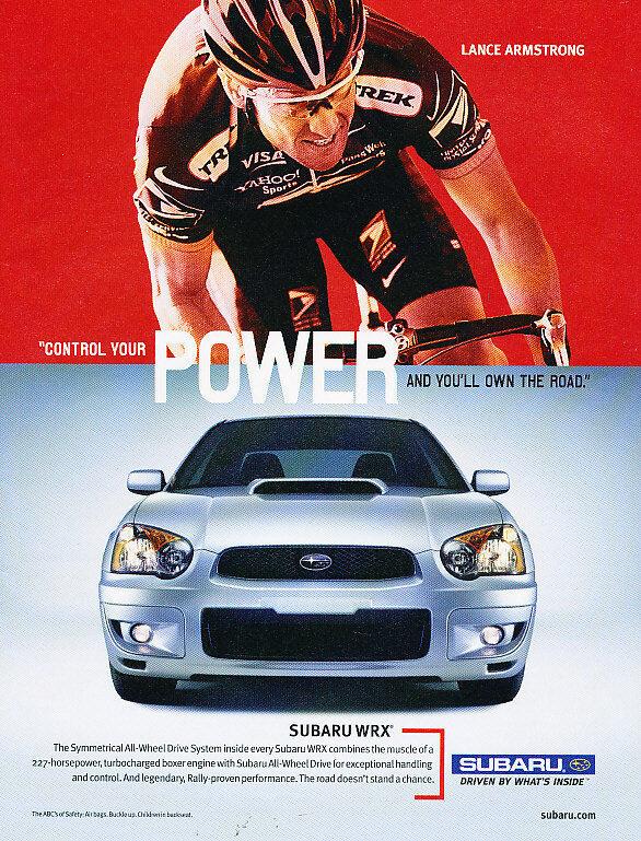 2003 Subaru WRX Impreza - Biker - Classic Vintage Advertisement Ad A10-B