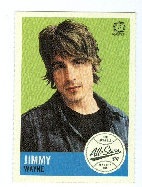 Jimmy Wayne 2004 MCA CMA umg voter request All Stars baseball card MINT
