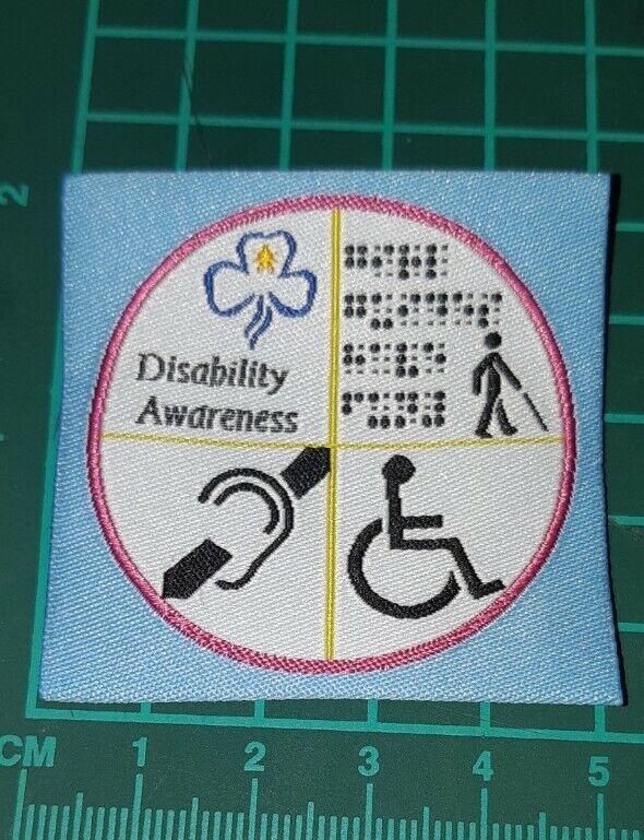 Girl Guides Disability Awareness Badge.