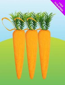Set Of 6 Giant Novelty Easter Carrots - Ideal For Craft / Easter Hat Decorations