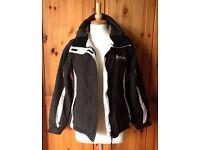 SURFANIC Womens Ski Snowboard technical Jacket UK M black & white b/w