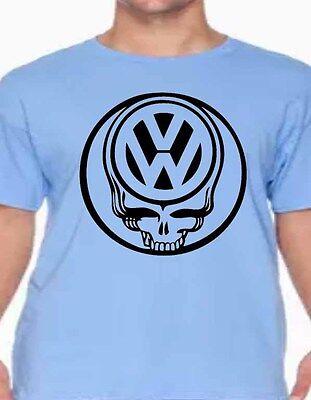 volkswagon skull vw custom t-shirt graphic tee Golf, Bug, Jetta, Passat, Tuguan  - Customized Golf Tees