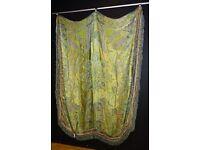 Victorian Oriental silk embroidered bedspread