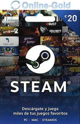 20 EUR códigos de la Cartera de Steam - €20 Euro tarjetas...