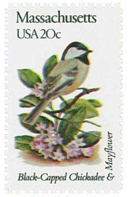 1982 20c State Birds & Flowers, Massachusetts, Mayflower Scott 1973 Mint F/VF NH