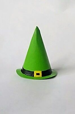 This is a green Halloween costume Witch hat for Small pets, ferrets, dogs,cats,  - Cat Costume For A Dog