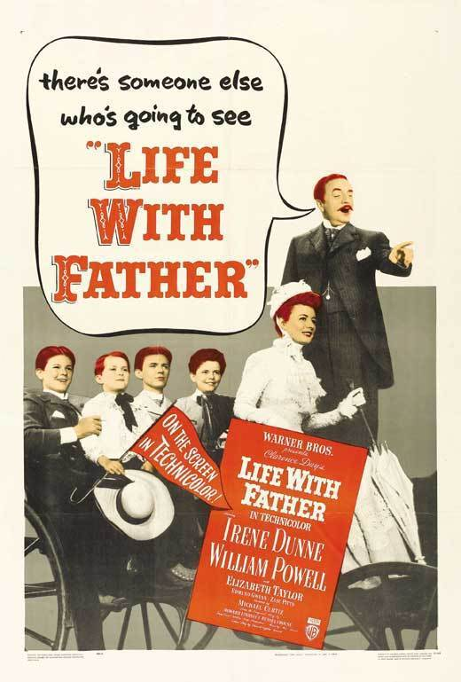 LIFE WITH FATHER Movie POSTER 27x40 C William Powell Irene Dunne Elizabeth