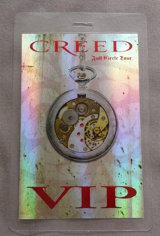 2010 CREED LAMINATED BACKSTAGE PASS VIP HOLOGRAM FULL CIRCLE TOUR
