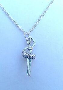 Ballerina Pendant with Necklace - Christmas/Birthday Gift/Present. Ballet/Dance.