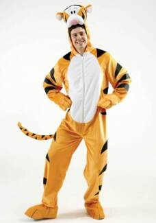 Cute Tigger Adult Costume Hire Adelaide