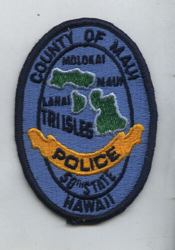 1980s Police Patch County of Maui Police