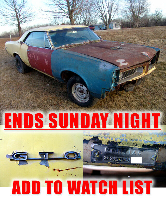 1967 Pontiac GTO 242 GTO Real 242 GTO that's ready to be built! Native KC car solid frame rails 55+ pics