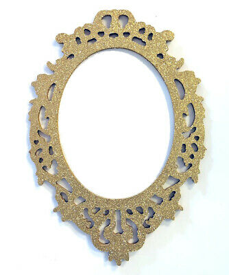 Glitter Gold Wood Frame Cut Out Picture Home Decor Photo Disney Magic Mirror ()