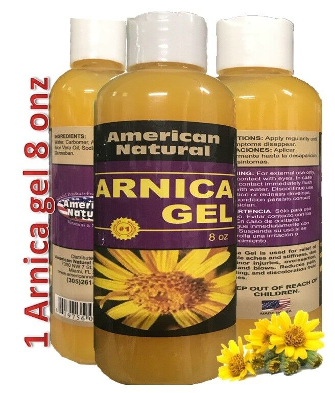 ARNICA MONTANA GEL 8Oz PAIN RELIEF BRUISES MUSCLE ACHES NATURAL free  3