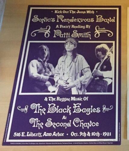 PATTI SMITH 1981 HAND SIGNED  Dennis Loren Original Concert Poster  14