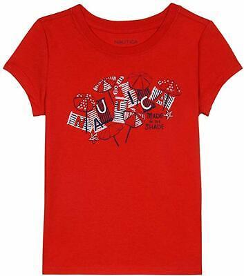 Nautica Toddler Girl's Girls' Short Sleeve Graphic Tee Shirt graphic dark red 2T