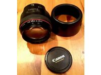85mm 1.2 Canon Canon EF F/1.2 I EF L USM Lens Great Condition