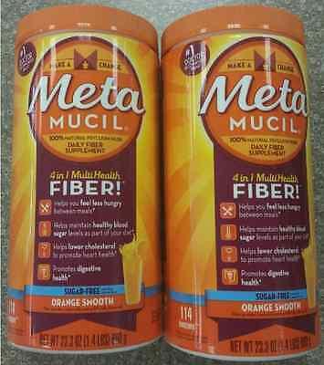 Metamucil Sugar Free - 228 Doses - Orange Flavor Fiber 46...