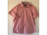 Men's Burton 2XL Red Fine Stripped Short Sleeved Shirt Ideal For Summer Holiday