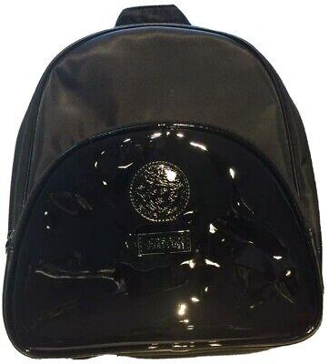 100% Genuine Versace Black Luxury Backpack Style Bag Pack in Dust Bag