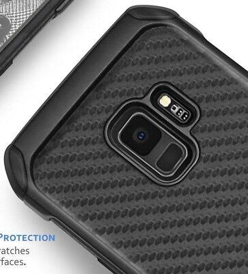 For Samsung Galaxy S9 - Hybrid Shockproof Armor Case Cover Black Carbon Fiber