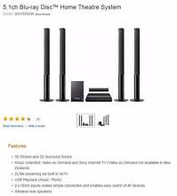 Sony blue-ray Home Theatre Systems 5.1ch Terrigal Gosford Area Preview