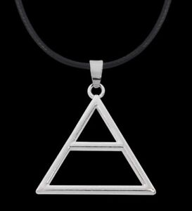 30 Seconds To Mars Necklace Triad Triangle Cord Echelon Pendant Jared Leto UK*