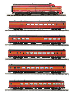 MTH 80-2061-1P Alco PA 5 Car Passenger Set Southern Pacific, Cars Only No Loco