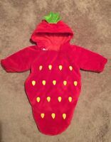 Halloween costume strawberry shortcake newborn-3m