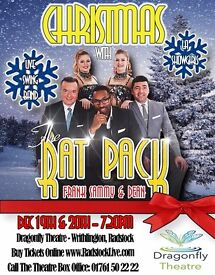 Christmas With The Rat Pack with Frank, Sammy & Dean- On stage at The Dragonfly Theatre Radstock