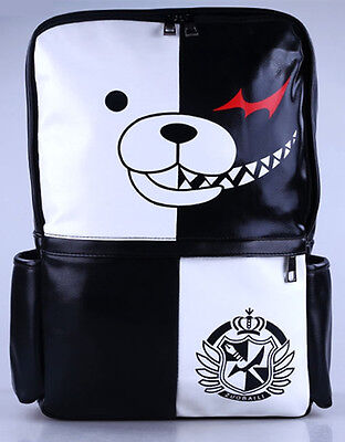 New Danganronpa Dangan Ronpa Cosplay White & Black Bear Backpack School Bag