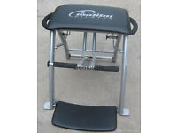 ORIGINAL MALIBU PILATES CHAIR + WORKOUT DVDS - COST £150 - BARELY USED - BARGAIN £35 FOR QUICK SALE