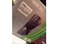 Xbox 360 250GB Black Slim + Xbox Kinect+Games