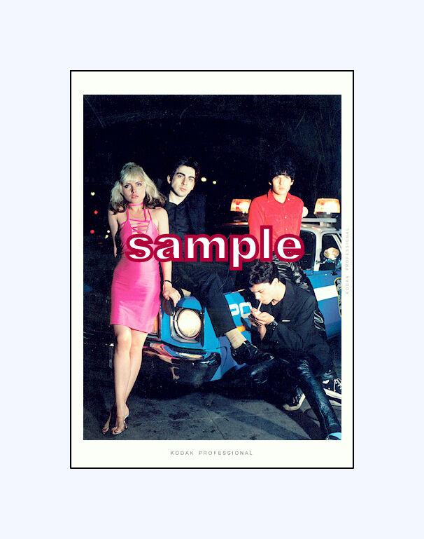 Blondie  plastic letters photo shoot 70`s 5x7 color