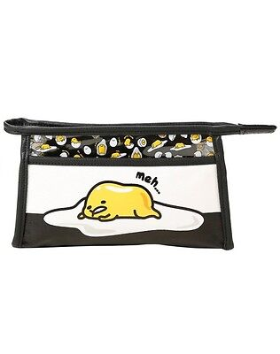 Gudetama The Lazy Egg Sanrio Cosmetic Makeup Bag Rare HTF New With Tags!