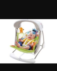 Fisher Price Baby woodland friends electric swing