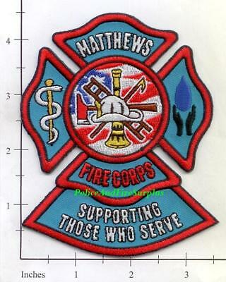 North Carolina - Matthews Fire Corps NC Fire Dept Patch