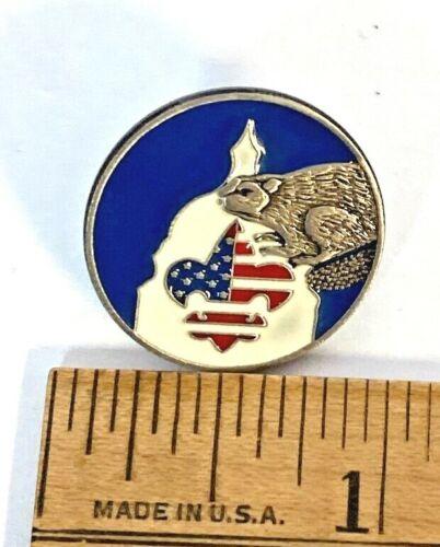 Vintage BSA Silver Beaver Pin
