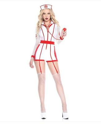Music Legs Hospital Risque Nurse Sexy Women's Halloween Costume 70937 Party - Risque Kostüm