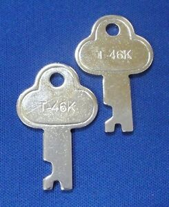 T46 Steamer Trunk Key Precut Long Footlocker Key T-46K