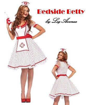 Striper Costumes (Bedside Betty Hospital Nurse - Candy Striper Adult 1950's Womens Nursing)