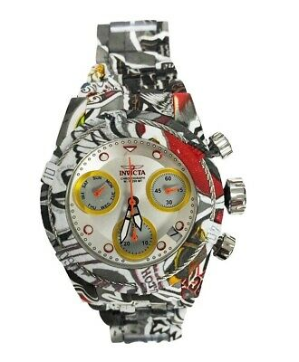 Invicta 42mm Bolt Zeus Quartz Chronograph Hydroplated Watch Silvertone 30221