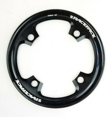 34t Max 104mm BCD Black aluminum ROCK RING chain Bike Bash Guard 50g